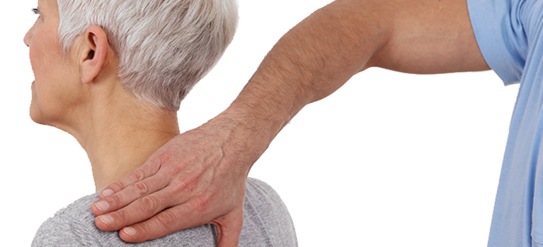 Elderly woman receiving Midhurst chiropractic services